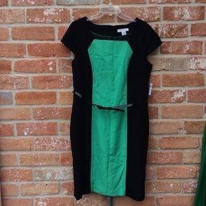 NWT Liz Claiborne Color Block Dress Plus Size 16